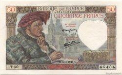 50 Francs JACQUES CŒUR FRANCE  1941 F.19.08 NEUF