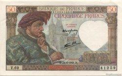 50 Francs JACQUES CŒUR FRANCE  1941 F.19.09 SPL+