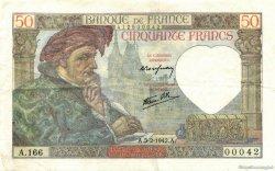 50 Francs JACQUES CŒUR FRANCE  1942 F.19.19 TTB