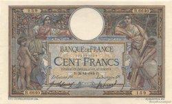 100 Francs LUC OLIVIER MERSON sans LOM FRANCE  1919 F.23.11 SUP à SPL