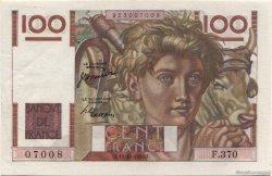100 Francs JEUNE PAYSAN FRANCE  1950 F.28.27 SUP+