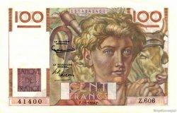 100 Francs JEUNE PAYSAN FRANCE  1954 F.28.43a SPL