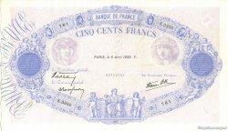 500 Francs BLEU ET ROSE modifié FRANCE  1939 F.31.30 TTB+