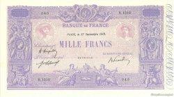 1000 Francs BLEU ET ROSE FRANCE  1919 F.36.34 TTB à SUP