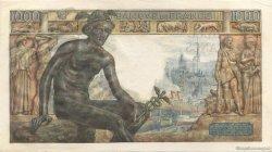 1000 Francs DÉESSE DÉMÉTER FRANCE  1943 F.40.31 SUP+
