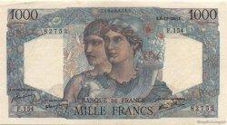 1000 Francs MINERVE ET HERCULE FRANCE  1945 F.41.09 SUP+