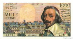 1000 Francs RICHELIEU FRANCE  1955 F.42.12 NEUF