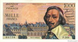 1000 Francs RICHELIEU FRANCE  1956 F.42.21 SUP