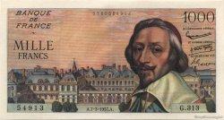 1000 Francs RICHELIEU FRANCE  1957 F.42.25 SPL