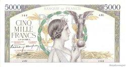 5000 Francs VICTOIRE Impression à plat FRANCE  1938 F.46.01 pr.SUP