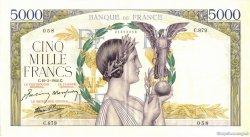 5000 Francs VICTOIRE Impression à plat FRANCE  1942 F.46.35 SPL