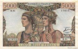 5000 Francs TERRE ET MER FRANCE  1952 F.48.06 SPL+