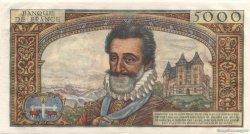5000 Francs HENRI IV FRANCE  1957 F.49.01 SPL
