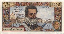 5000 Francs HENRI IV FRANCE  1958 F.49.06