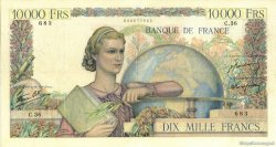 10000 Francs GÉNIE FRANÇAIS FRANCE  1946 F.50.02 TB+