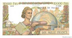10000 Francs GÉNIE FRANÇAIS FRANCE  1954 F.50.71 SPL