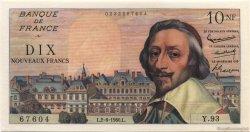 10 Nouveaux Francs RICHELIEU FRANCE  1960 F.57.08 pr.NEUF