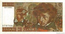 10 Francs BERLIOZ FRANCE  1978 F.63.24b TB