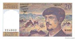 20 Francs DEBUSSY FRANCE  1987 F.66.08 pr.SUP