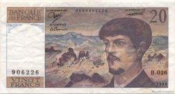 20 Francs DEBUSSY FRANCE  1989 F.66.10b TTB+