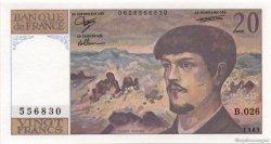 20 Francs DEBUSSY FRANCE  1989 F.66.10b SPL+