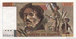 100 Francs DELACROIX modifié FRANCE  1978 F.69.01c pr.NEUF