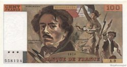 100 Francs DELACROIX modifié FRANCE  1978 F.69.01h NEUF