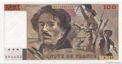 100 Francs DELACROIX imprimé en continu FRANCE  1990 F.69bis.01b2