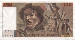 100 Francs DELACROIX 442-1 & 442-2 FRANCE  1995 F.69ter.02d pr.SPL