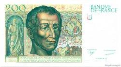 200 Francs MONTESQUIEU et EIFFEL FRANCE  1987 F.75E.01 NEUF
