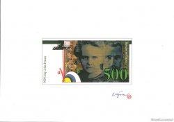 500 Francs Pierre et Marie CURIE essai FRANCE  1989 F.76.00 NEUF