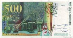 500 Francs PIERRE ET MARIE CURIE symbole en haut FRANCE  1994 F.76bis.01 NEUF