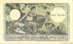 500 Francs Algérie surchargé pour la Corse FRANCE  1943 VF.09.01 TTB+