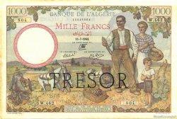 1000 Francs Algérie surchargé pour la Corse FRANCE  1942 VF.10.01 TTB+
