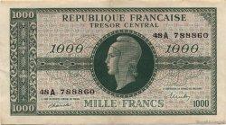 1000 Francs chiffres gras FRANCE  1945 VF.12.01 SUP