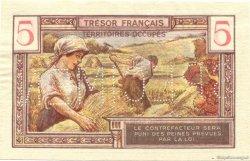 5 Francs Territoires occupés FRANCE  1947 VF.29.02 pr.NEUF