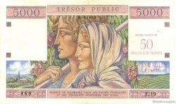 50 NF / 5000 Francs Trésor Public FRANCE  1960 VF.39.01 TTB