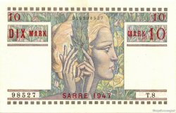 10 Mark SARRE FRANCE  1947 VF.47.01 SPL+