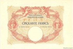 50 Francs MINES DOMANIALES DE LA SARRE FRANCE  1920 VF.54.02 NEUF
