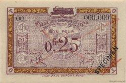 25 Centimes FRANCE régionalisme et divers  1923 JP.03 SPL