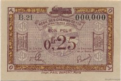 25 Centimes FRANCE régionalisme et divers  1923 JP.03 pr.NEUF