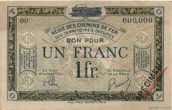 1 Franc FRANCE régionalisme et divers  1923 JP.05 SUP+