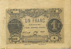 1 Franc Société Générale FRANCE  1871 - TTB