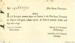 10 Livres Tournois typographié FRANCE  1720 Laf.093 SUP+