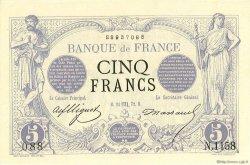 5 Francs NOIR FRANCE  1872 F.01.11 pr.NEUF