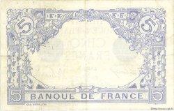 5 Francs BLEU FRANCE  1915 F.02.32 TTB