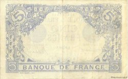 5 Francs BLEU lion inversé FRANCE  1916 F.02bis.04 TTB+