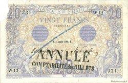 20 Francs BLEU FRANCE  1906 F.10.01 TB à TTB
