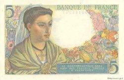 5 Francs BERGER FRANCE  1943 F.05.01 pr.NEUF