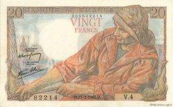 20 Francs PÊCHEUR FRANCE  1942 F.13.01 SUP+